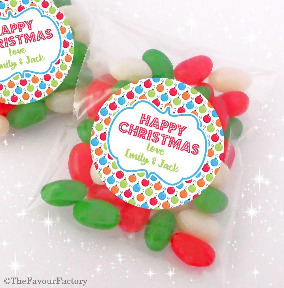 Vintage Reindeer Personalised Christmas Sweet Bags Table Favours Stocking F