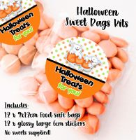Boo Ghosts Personalised Halloween Sweet Bags Trick or Treat Prizes x12
