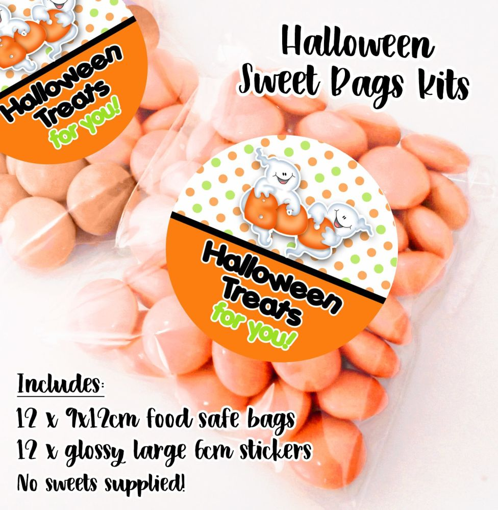 Personalised Halloween Sweet Bags Trick or Treat Prizes x12