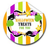 Halloween Stickers Candy Sweets