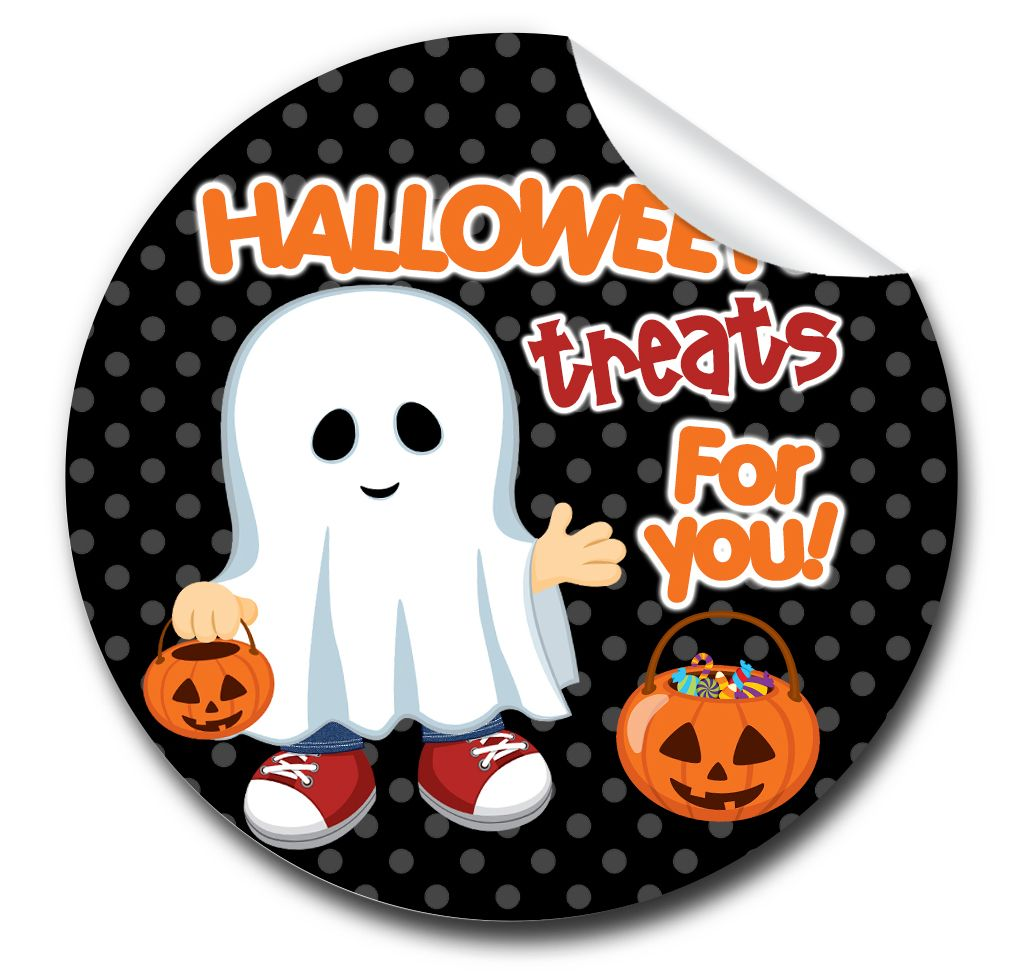 Personalised Halloween Stickers A4 sheet x1