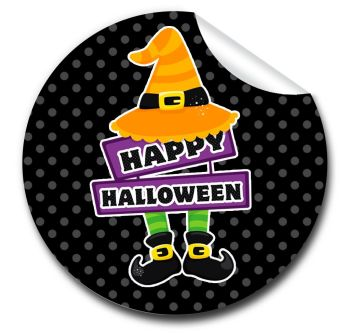 Happy Halloween Personalised Stickers A4 sheet x1