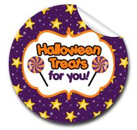 Stars Personalised Halloween Stickers A4 sheet x1