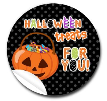 Spooky Personalised Halloween Stickers A4 sheet x1