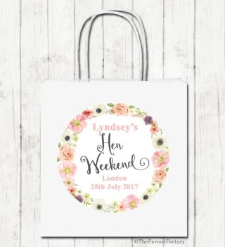 Jessica Florals Personalised Hen Night Party Bags x1