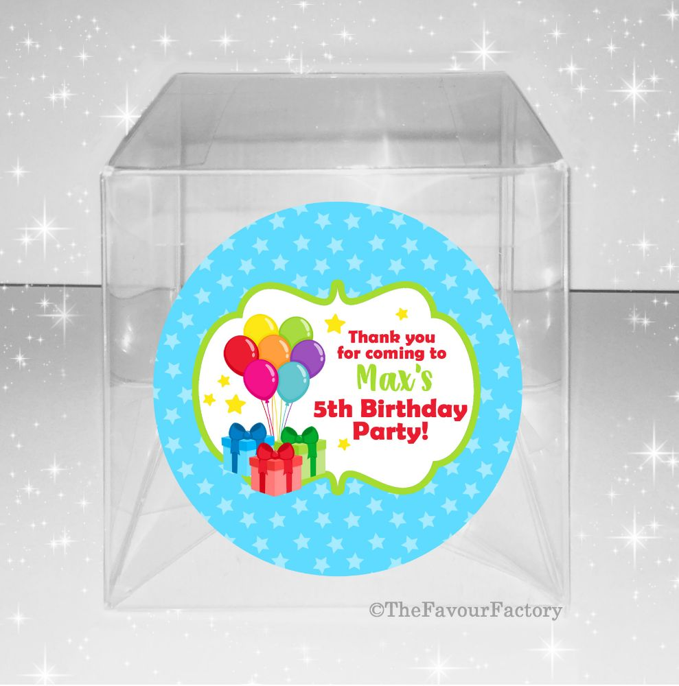 Personalised Children's Party Favours Sweet Boxes