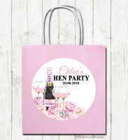 Champagne & Flowers Personalised Hen Night Party Bags x1