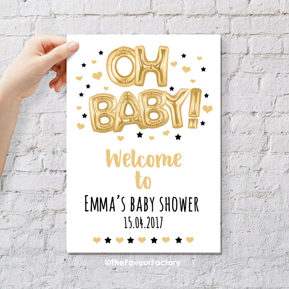 Baby Shower Table Signs