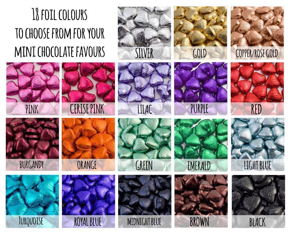 Foil Heart Chocolates