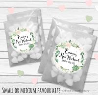 Succulents Flowers Personalised Hen Party Bag Fillers Sweets Bags Kits x12