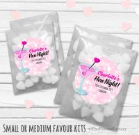 Cocktail Hearts Personalised Hen Party Bag Fillers Sweets Bags Kits x12