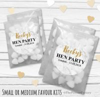 Marble Personalised Hen Party Bag Fillers Sweets Bags Kits x12