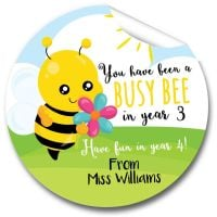Busy Bee Teacher to Class Stickers