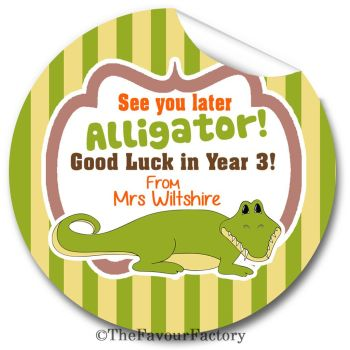 See you later Alligator End of Year Teacher to Class Personalised Stickers Labels