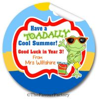 Toadally Cool Summer End of Year Teacher to Class Personalised Stickers Labels