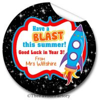 Have a Blast End of Year Teacher to Class Personalised Stickers Labels