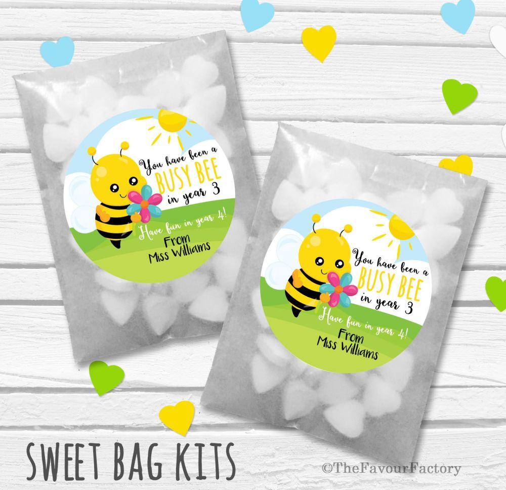 End of Year Teacher Personalised Eco-Friendly Sweet Bags Kits x12