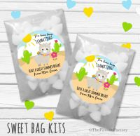 You Have been Llamazing End of Year Teacher Personalised Eco-Friendly Sweet Bags Kits x12
