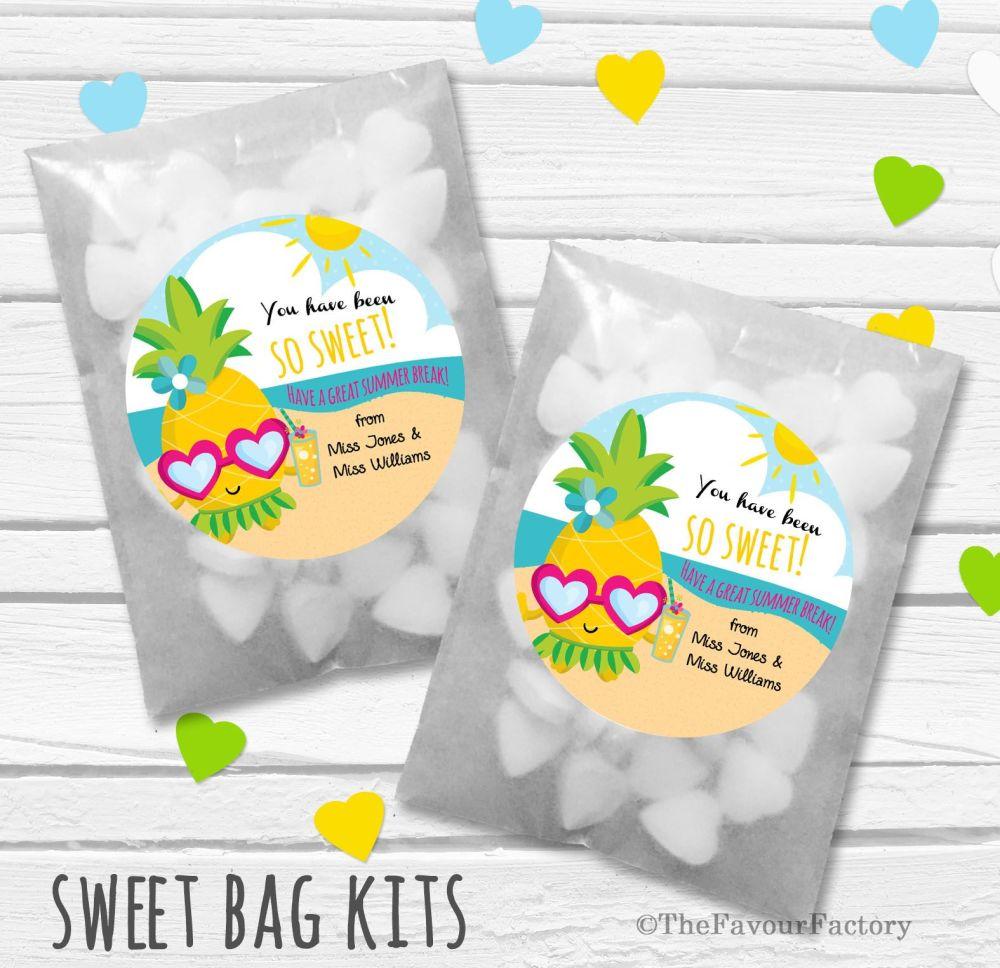 Pineapple So Sweet End of Year Teacher Personalised Eco-Friendly Sweet Bags