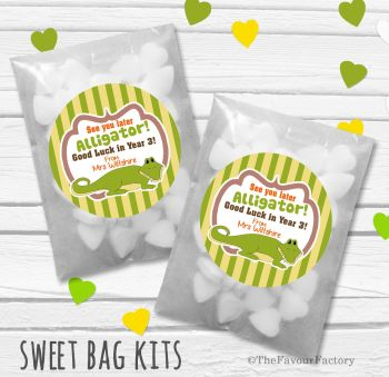 See You Later Alligator End of Year Teacher Personalised Eco-Friendly Sweet Bags Kits x12