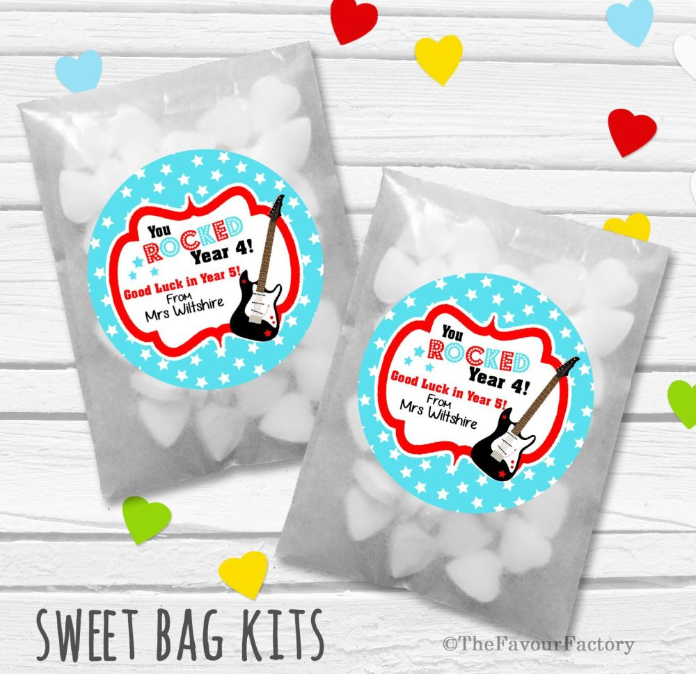 You Rocked End of Year Teacher Personalised Eco-Friendly Sweet Bags Kits x1