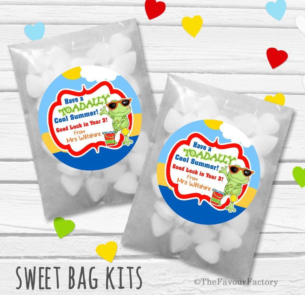 Toadally Cool Summer End of Year Teacher Personalised Eco-Friendly Sweet Ba