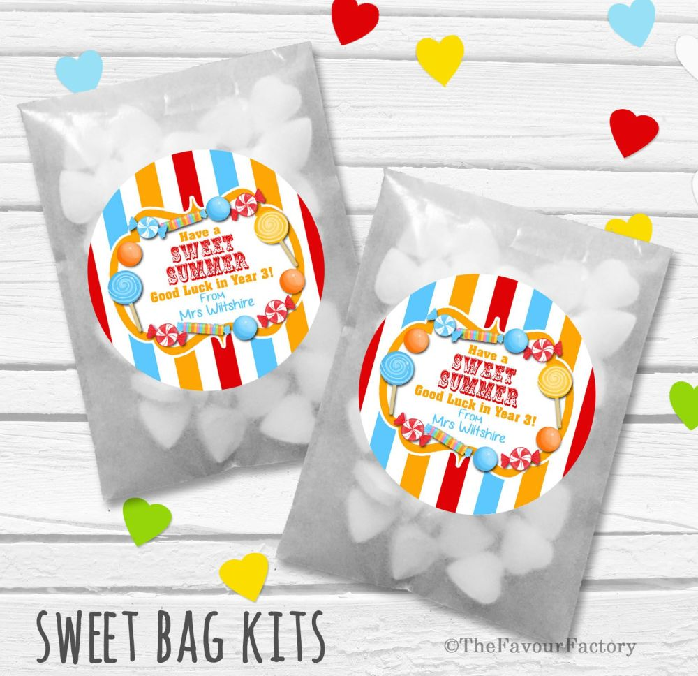 Have A Sweet Summer End of Year Teacher Personalised Eco-Friendly Sweet Bag