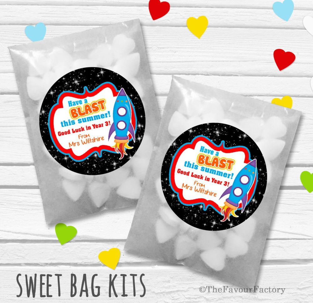Have A Blast End of Year Teacher Personalised Eco-Friendly Sweet Bags Kits