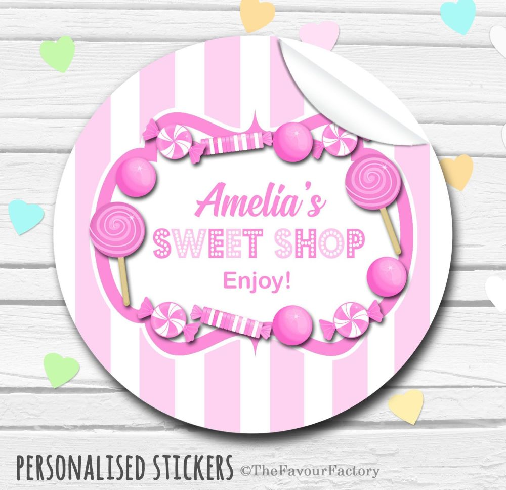Sweets Stickers Candy Sweet Shop Style Pink Theme