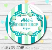 Sweets Stickers Candy Sweet Shop Style Teal and Mint