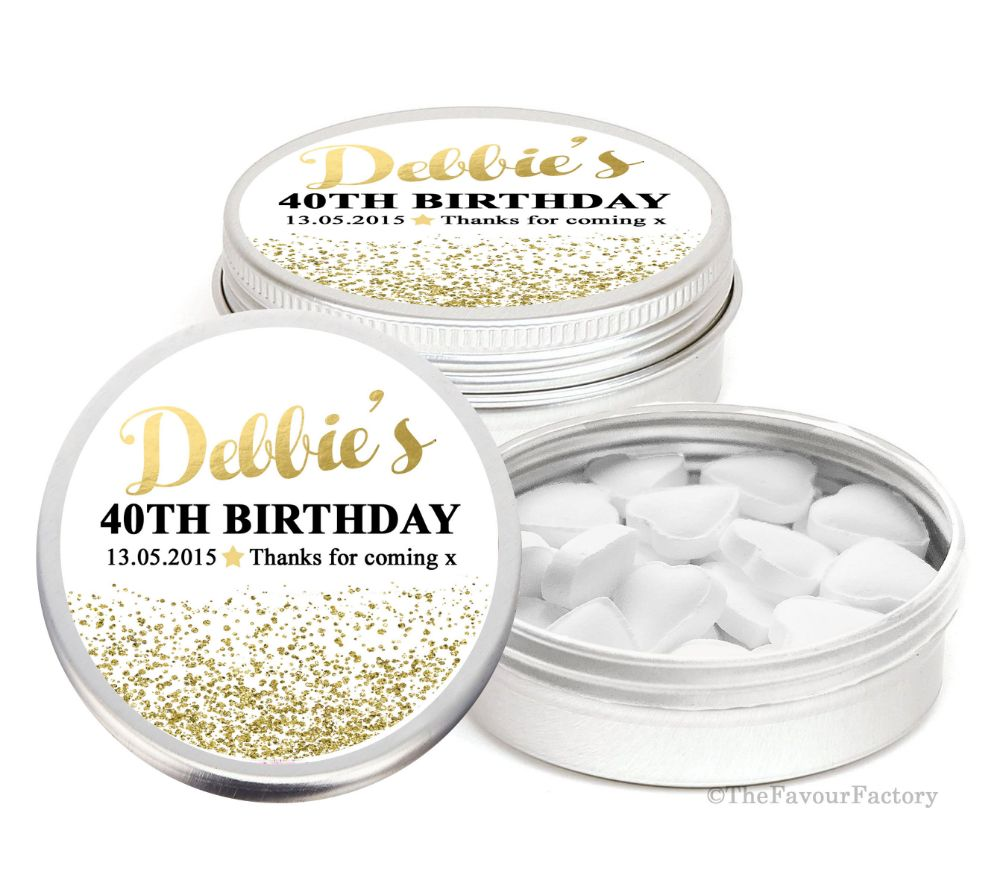 Birthday Party Favour Tins