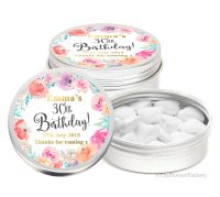 Emma Florals Personalised Birthday Party Favour Tins x1