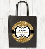 Gold Glitter Personalised Hen Night Party Goody Bags x1