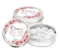 Boho Floral Wreath Personalised Hen Night Party Favour Tins Keepsakes x1