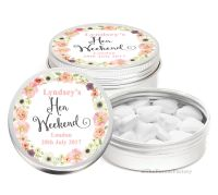 Jessica Florals Personalised Hen Do Party Favours Mint Tins x1