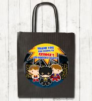 Superheroes Personalised Paper Birthday Party Bags x1