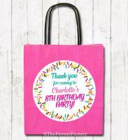 Sprinkles Personalised Paper Birthday Party Bags x1
