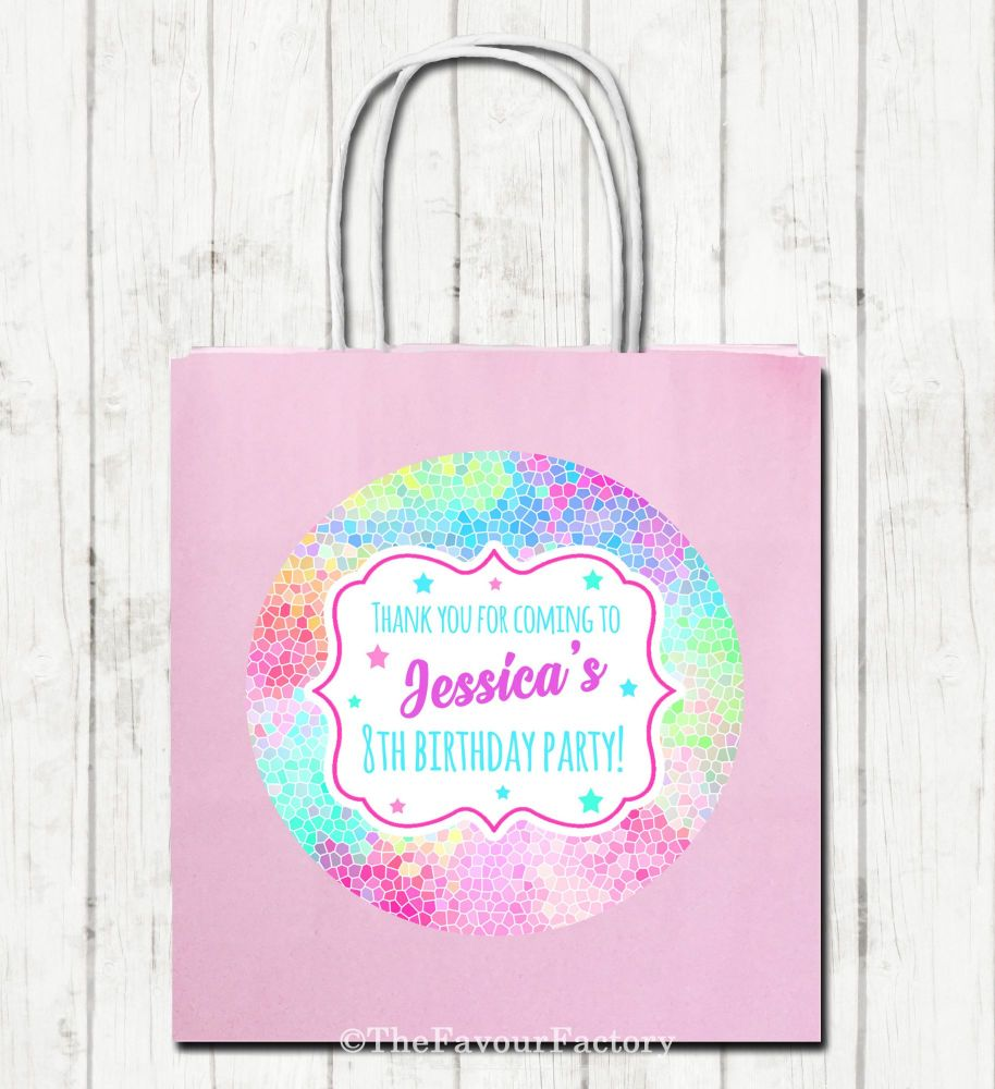 Personalised Paper Birthday Party Bags x1