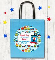 Choo Choo Train Personalised Paper Birthday Party Bags x1
