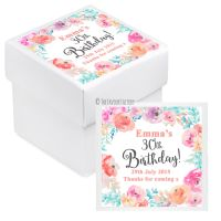 Emma Florals Personalised Birthday Party Favour Boxes With Lids KITS x10