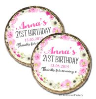 Anna Florals Personalised Birthday Party Chocolate Favours x 10 pieces