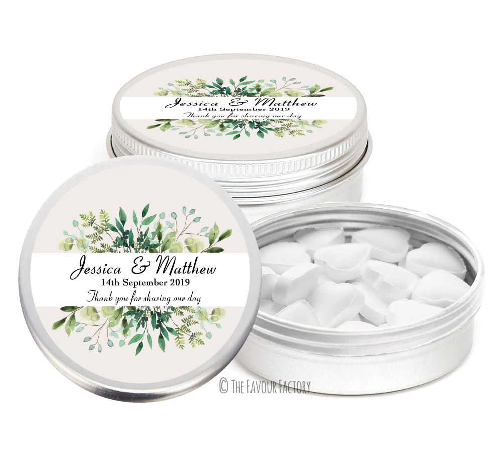 Personalised Wedding Favour Mint Tins x1