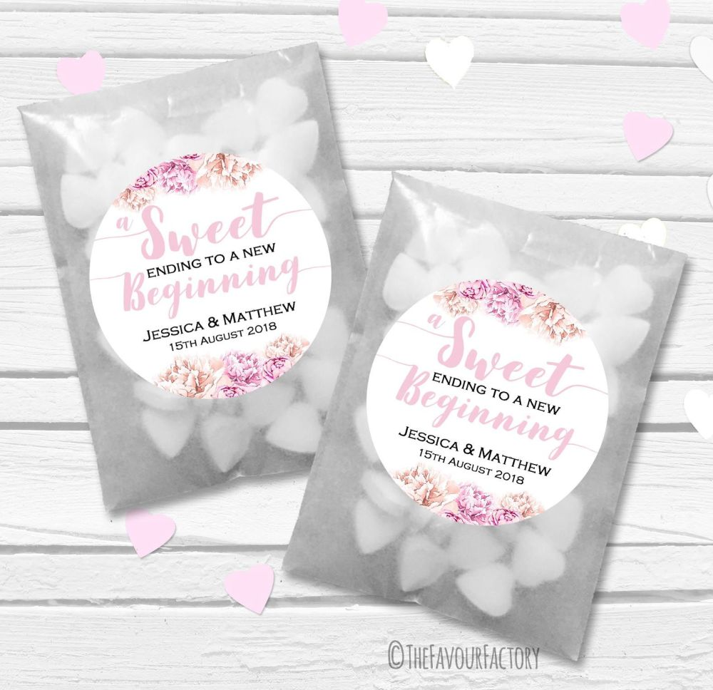 A heart full of love Personalised Wedding Favour Bags Kits x12
