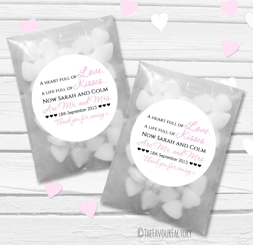 Personalised Wedding Favour Bags Kits x12