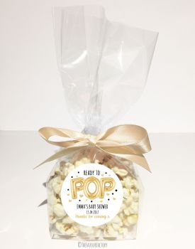 Gold Foil Balloons Ready to Pop Personalised Popcorn bags KITS x12