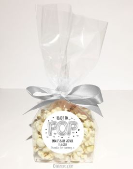 Silver Balloons Ready to Pop Personalised Popcorn bags KITS x12