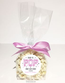 Pink Balloons Ready to Pop Personalised Popcorn bags KITS x12