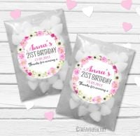 Anna Florals Personalised Birthday Party Paper Favour Sweet Bags Kits x12