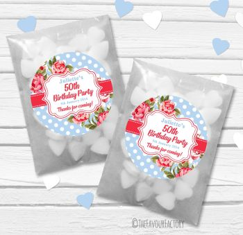 Cath Floral Polka Dots Birthday Party Paper Favour Sweet Bags Kits x12
