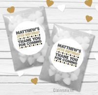 Dazzle Personalised Birthday Party Glassine Paper Favour Bags Kits x12